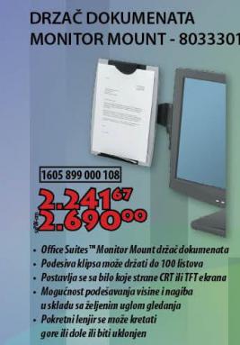 DRZAĆ DOKUMENATA MONITOR MOUNT - 8033301