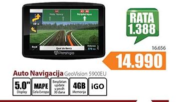 Auto navigacija GeoVision 5900EU