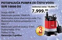 Potapajuća pumpa za čistu vodu SUB 10000 DS