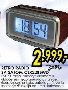 Radio sa satom Clr2285wd