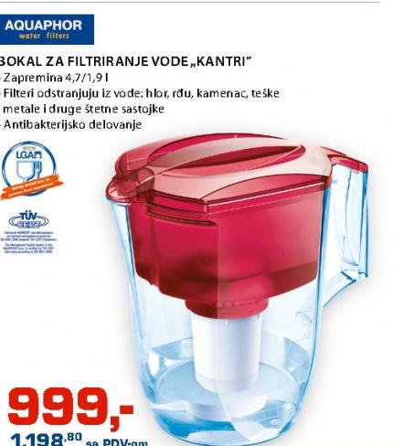 Bokal za filtriranje vode ''Kantri''