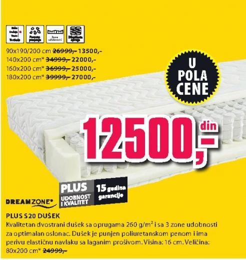 Dušek Plus S20 160x200
