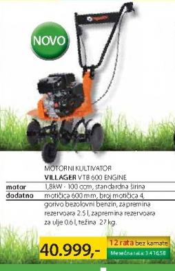 Motorni kultivator VTB 600 ENGINE