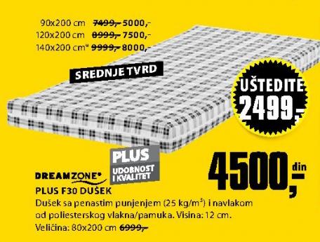 Dušek Plus F30, 80x200cm
