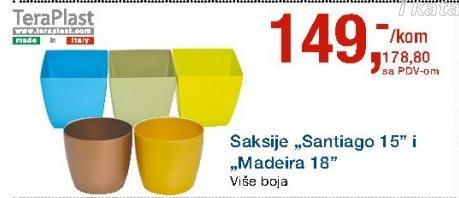 Saksija Santiago 15