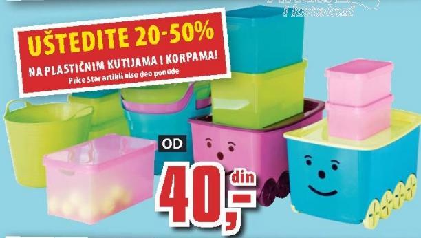 Plastične kutije i korpe