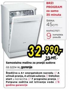 Mašina za pranje sudova Gs 52214 W