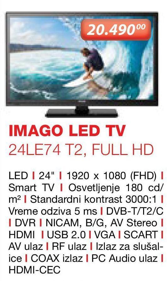 "Televizor LED 24"" 24LE74"