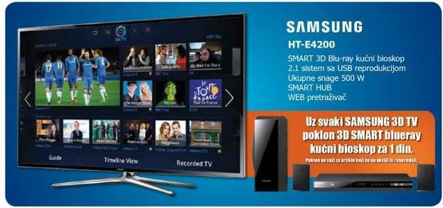 Uz kupljeni Samsung LED TV na poklon blueray kućni bioskop