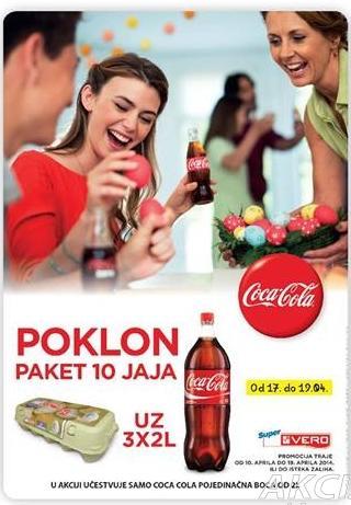 Poklon 10 jaja uz 3x2l Coca cola soka