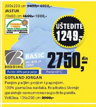 Jorgan Gotland 135x200cm