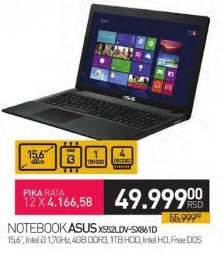 Notebook X552ldv-Sx861c