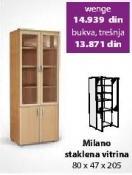 Staklena vitrina Milano