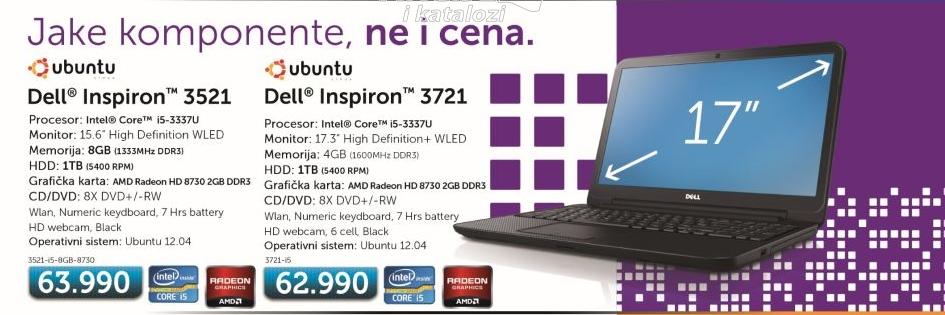 Laptop Inspiron 3721 i5-3337U