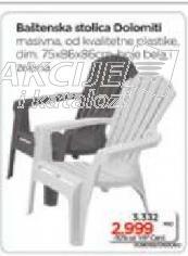 Baštenska stolica Dolomiti