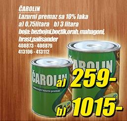 Čarolin 0,75l