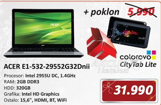 Laptop Aspire AS E1-532-29552G32Dnii