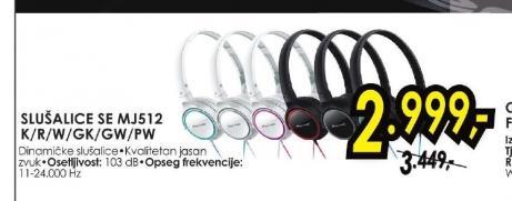 Slušalice SE-MJ512-GK