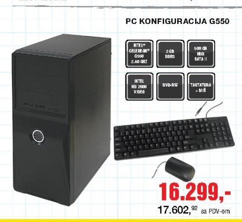 Desktop računar / PC konfiguracija G550