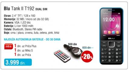 Mobilni telefon Tank II T192