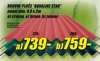 Krovne ploče Aqualine Star braon