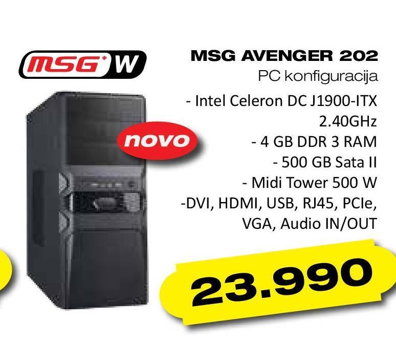 Desktop računar MSG Avenger 202
