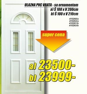 Ulazna PVC vrata 100x200