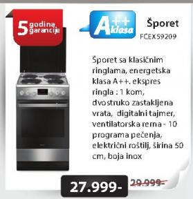 Šporet FCEX59209