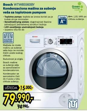 Mašina Za Sušenje Veša WTW85560BY