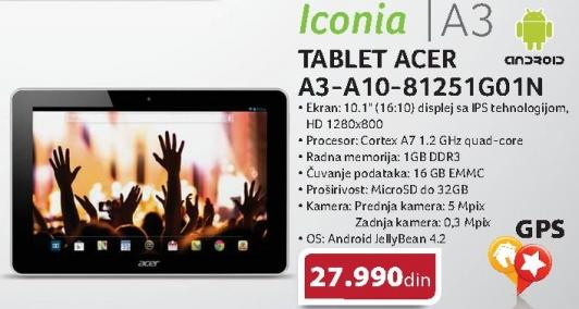 Tablet Iconia A3-A10-81251g01n