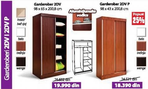 Garderober 2dv