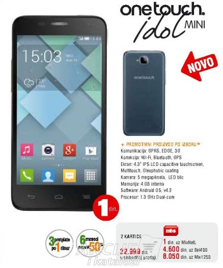 Telefon mobilni One Touch Idol mini