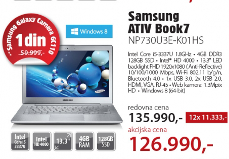 Laptop   ATIV Book7 NP730U3E-K01HS