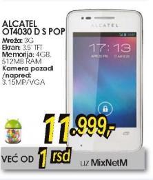 Mobilni telefonOT4030 D S POP