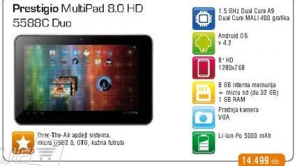 Tablet Multipad 8.0 HD 5588C Duo