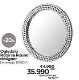 Ogledalo Robinia Round designer