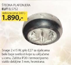 Štedna plafonjera EL5752