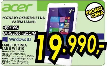 Tablet Iconia Tab 8 W1 810