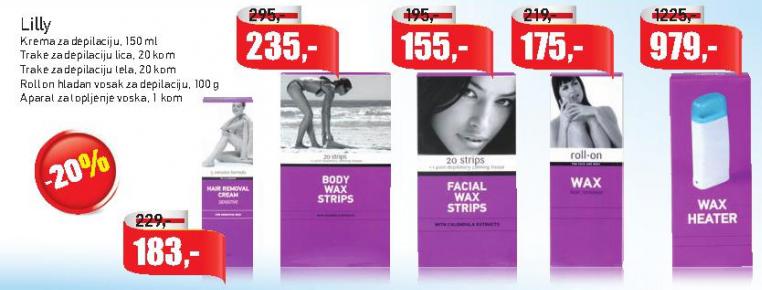 Trake za depilaciju lica
