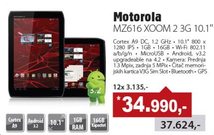 Tablet Motorola MZ616 XOOM 2 3G