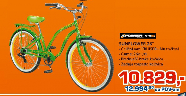 Bicikl X-plorer Sunflower 26''