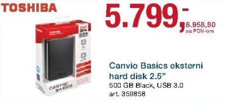 Eksterni hard disk Canvio Basics