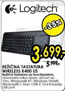 Bežična tastatura Wireless K400 Us
