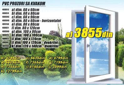 Pvc Prozor 80x60 horizontalni