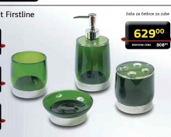 Toaletna čaša, kupatilski set Firstline