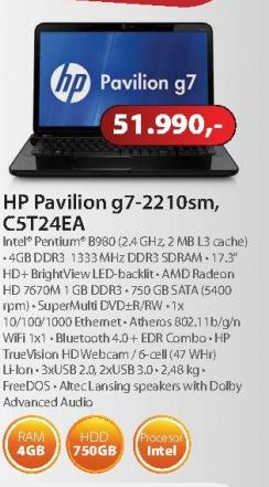 Laptop Pavilion G7-2210SM C5T24EA