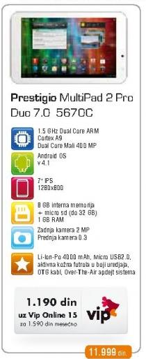 Tablet Multipad 2 Pro Duo 7.0 567c