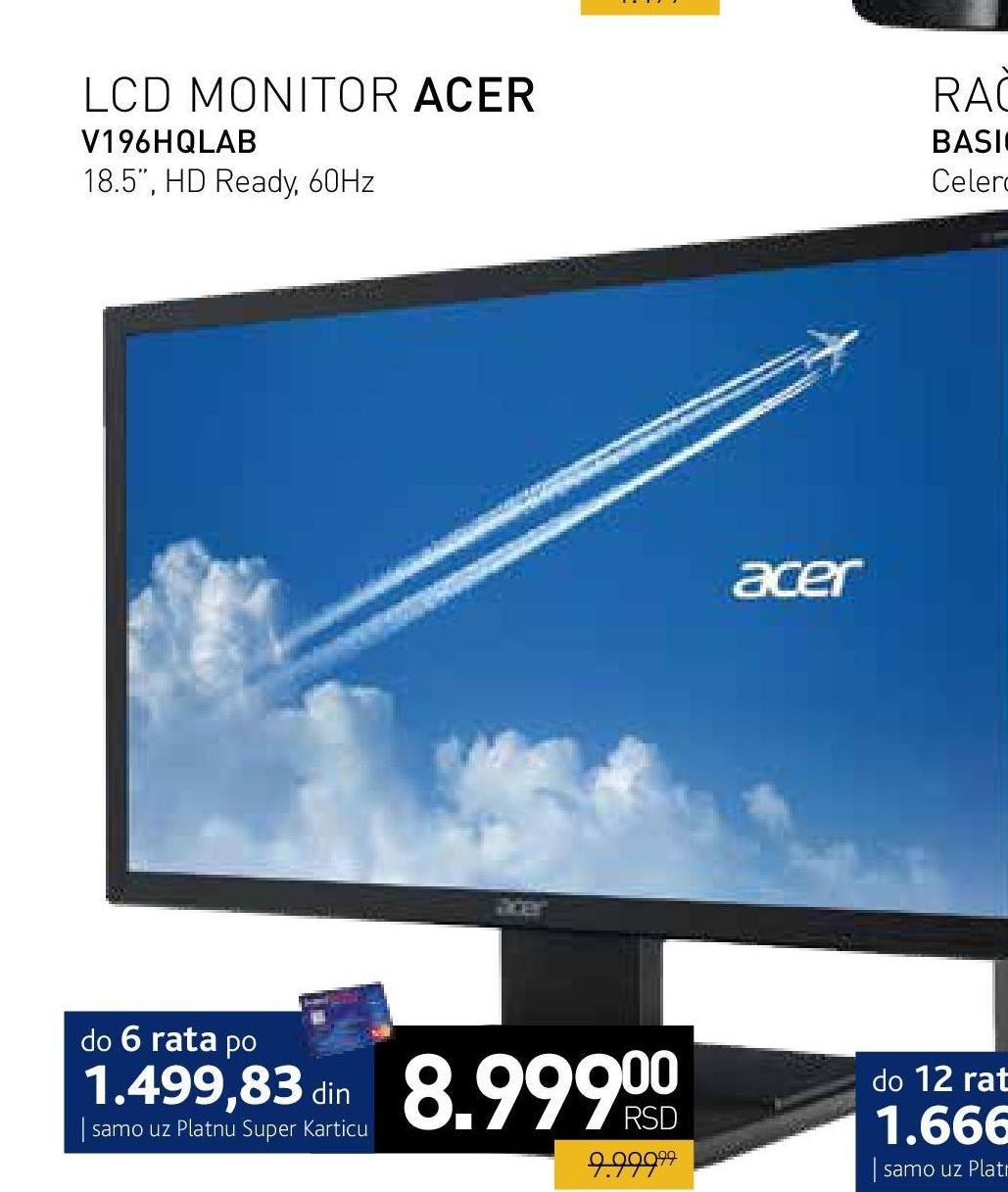 "Monitor LED 19"" V196HQLAB"