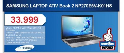 Laptop NP270E5V-K01HS