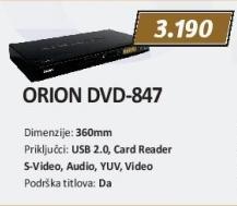 DVD plejer Dvd-847 Orion